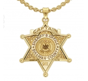 Personalized Sheriff Badge with Number  Rank   Department