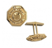 Personalized State Trooper Badge Cuff Links with Your Number