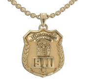 Personalized New Jersey Police Badge with Your Number   Department