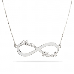 Personalized Infinity Name Necklace with Chain