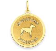 Miniature Pinscher Disc Charm or Pendant
