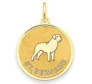 St Bernard Disc Charm or Pendant