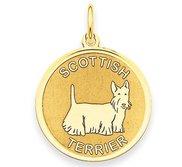 Scottish Terrier Disc Charm or Pendant