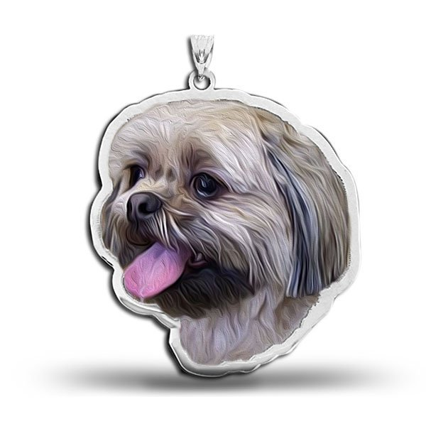 Shih Tzu Dog Portrait Charm Or Pendant Pg85379