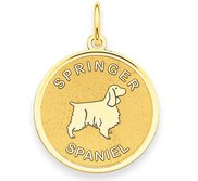 Springer Spaniel Disc Charm or Pendant