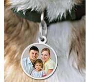 Round Pet s Picture Pendant