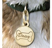 Dog Bone Round  Picture Locket