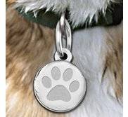 Dog s Paw Print Round  Picture Locket