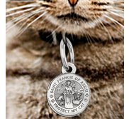Saint Francis of Assisi   Protect My Cat   Round  Picture Locket