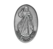 Divine Mercy Religious Metal Visor Clip