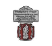 Saint Florian Firefighters Prayer Religious Metal Visor Clip