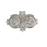 Saint Christopher   Saint Michael Religious Metal Visor Clip