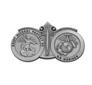 Saint Michael Marines Religious Metal Visor Clip