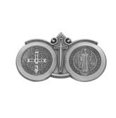 Saint Benedict Religious Metal Visor Clip