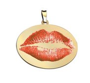 Lip Print Outlined Custom Medal