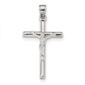 10k White Gold Crucifix Pendant