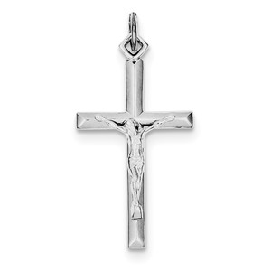 Sterling Silver Rhodium plated Crucifix Pendant