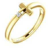 015 CTW Diamond Youth Cross Ring