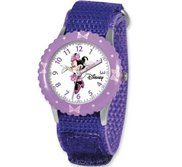 Minnie Mouse 7  Nylon Band with Velcro Closure