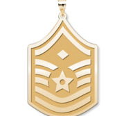 U S AirForce National Guard Master Sergeant  note Diamond  Pendant