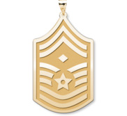 U S AirForce National Guard Chief Master Sergeant  Note Diamond  Pendant