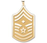 U S AirForce National Guard Senior Master Sergeant Note Diamond  Pendant