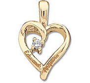 14K Personalized Couple s Heart Pendant w   02ct Diamond
