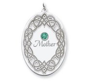 Personalized Celtic Family Pendant with Name and Birthstone