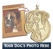Custom Personalized Etched Portrait Pendant or Charm of Your Dog