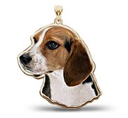 Beagle Dog Color Portrait Charm or Pendant