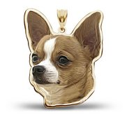 Chiuahua Dog Color Portrait Charm or Pendant