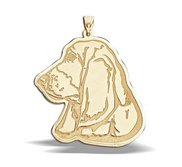 Basset Hound Dog Portrait Charm or Pendant