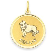 Collie Disc Charm or Pendant