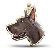 Great Dane Dog Portrait Color Charm or Pendant