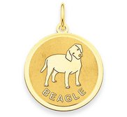 Beagle Disc Charm or Pendant