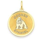 Cocker Spaniel Disc Charm or Pendant