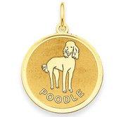 Poodle Disc Charm or Pendant