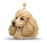 Poodle Dog Color Portrait Charm or Pendant