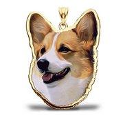 Pembroke Welsh Corgi Dog Portrait Charm or Pendant
