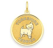 Yorkshire Terrier Disc Charm or Pendant