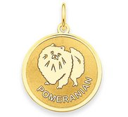 Pomeranian Disc Charm or Pendant