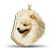 Pomeranian Dog Color Portrait Charm or Pendant