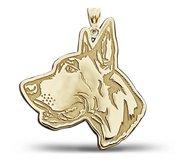 Great Dane Dog Portrait Charm or Pendant