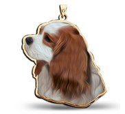 Cavalier King Charles Spaniel Dog Portrait Charm or Pendant