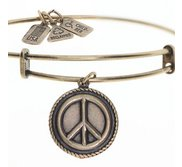 Wind   Fire  Peace Sign  Expandable Bracelet