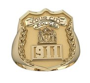 Personalized Police Badge Ring with Badge Number   Department