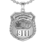 Personalized Port Authority Police Badge with Your Number