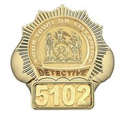 Personalized Detective Badge Ring with Number   Department