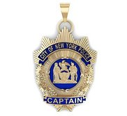 Personalized Police Captain Enamel Badge w  Your Department