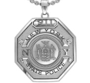 Personalized New York State Trooper Badge with Your Number